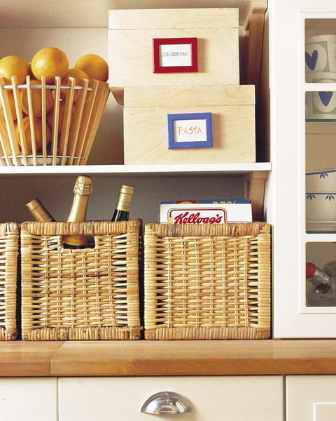 Organize Storage In Wicker Baskets